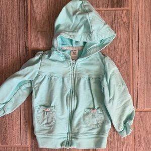 Baby girl zip up sweatshirt jacket